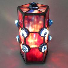 tiffany lámpa - üveg világítótest - üvegcse.design - különleges díszüvegezés